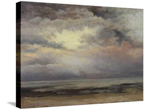 L'Immensite, c.1869-Gustave Courbet-Stretched Canvas Print