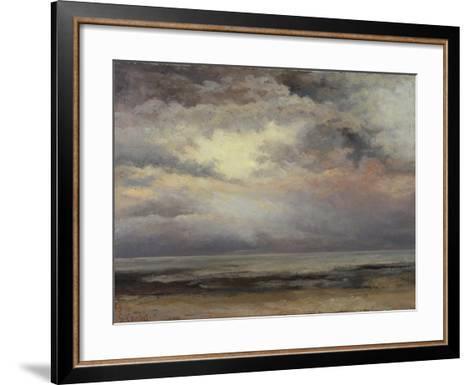 L'Immensite, c.1869-Gustave Courbet-Framed Art Print