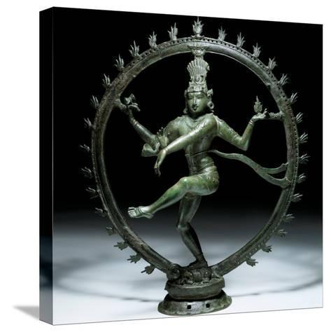 Shiva Nataraja in Bronze, 12th Century--Stretched Canvas Print