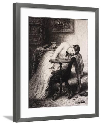 Hope Defered, 19th Century-Charles West Cope-Framed Art Print
