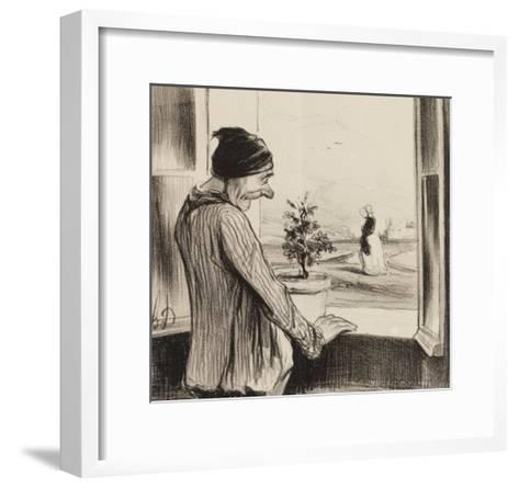 Regret-Honore Daumier-Framed Art Print