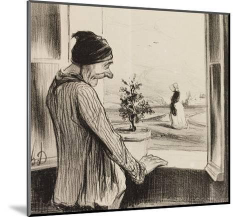 Regret-Honore Daumier-Mounted Giclee Print