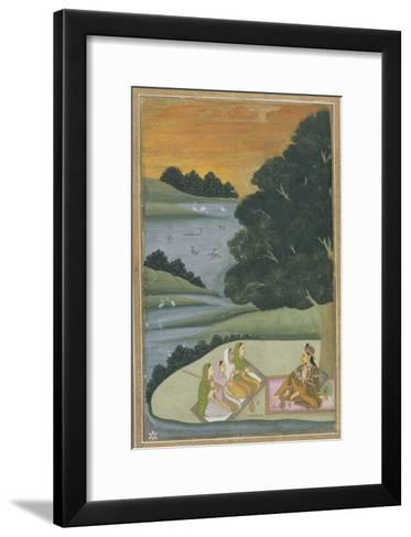 Princess Listening to Female Musicians, India--Framed Art Print
