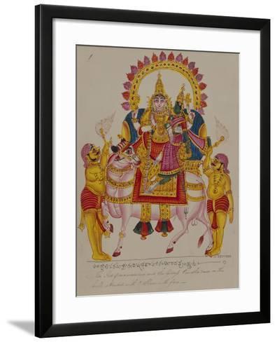 Shiva and Parvati on the Bull Nandi, India--Framed Art Print