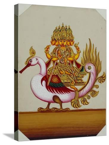 Five Headed Brahma on a Goose, India--Stretched Canvas Print