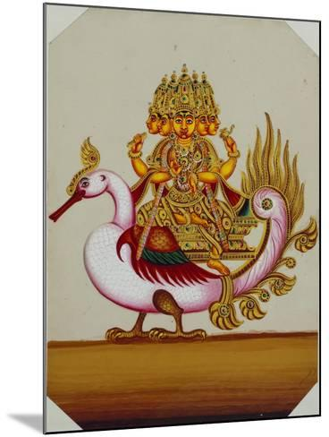 Five Headed Brahma on a Goose, India--Mounted Giclee Print