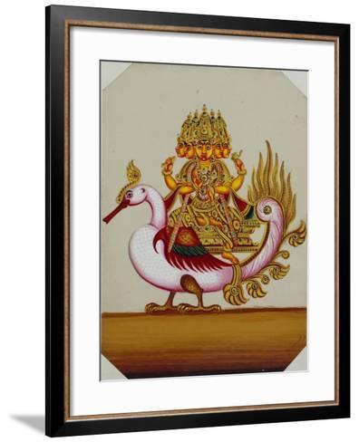 Five Headed Brahma on a Goose, India--Framed Art Print