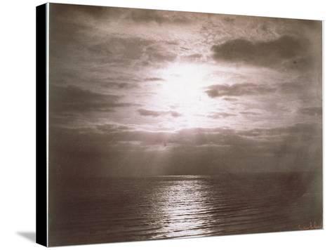 Seascape: Vue de Mer, Le Soleil-Gustave Le Gray-Stretched Canvas Print