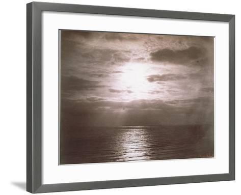 Seascape: Vue de Mer, Le Soleil-Gustave Le Gray-Framed Art Print