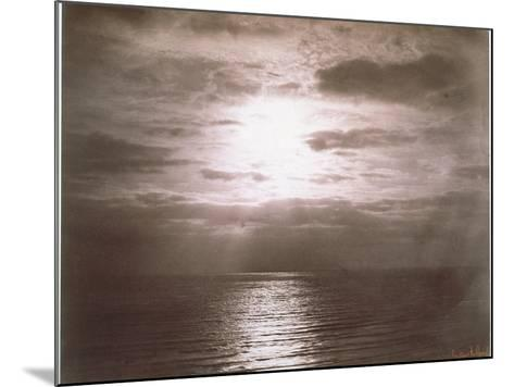Seascape: Vue de Mer, Le Soleil-Gustave Le Gray-Mounted Giclee Print