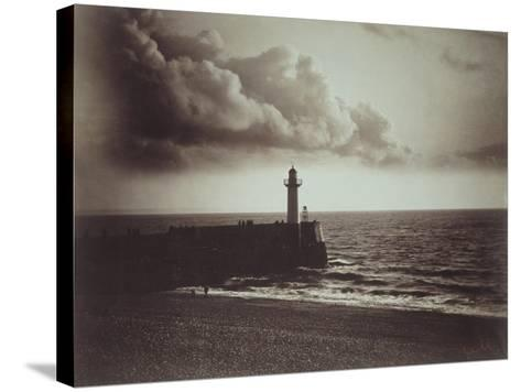 Lighthouse and Jetty, Le Havre-Gustave Le Gray-Stretched Canvas Print