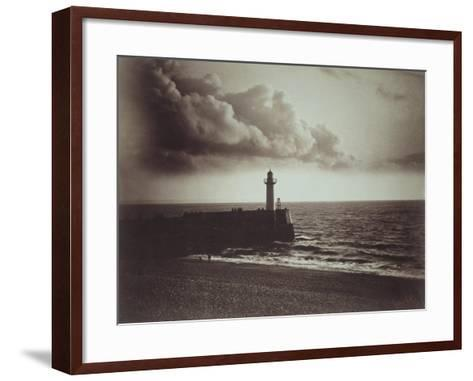 Lighthouse and Jetty, Le Havre-Gustave Le Gray-Framed Art Print