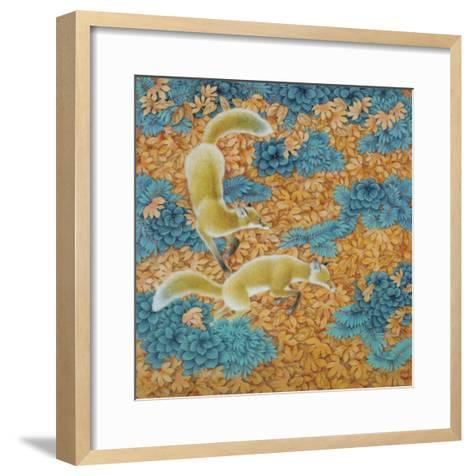 Frost in a Windy Night-Yuan Mu-Framed Art Print