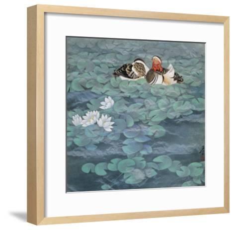 The Scene of Ripple-Yuan Mu-Framed Art Print