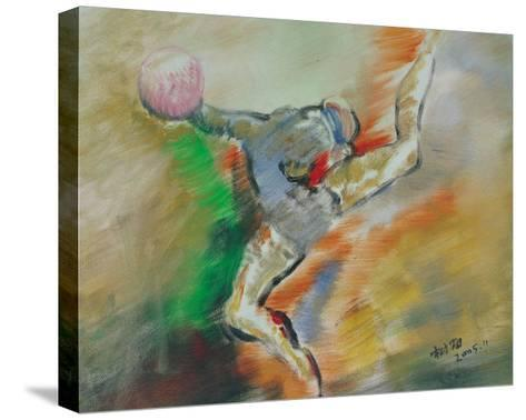 Rhythmic Gymnastics, No.2-Jiang Shuhai-Stretched Canvas Print