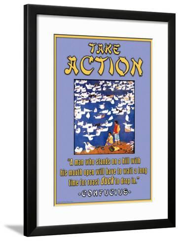 Take Action--Framed Art Print