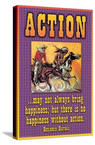 Action--Stretched Canvas Print