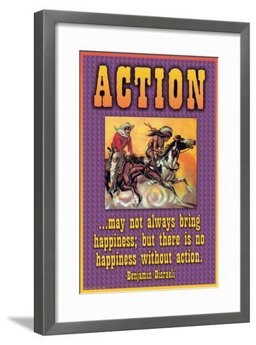 Action--Framed Art Print