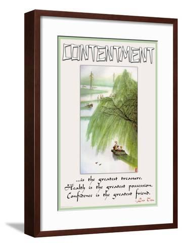 Contentment--Framed Art Print