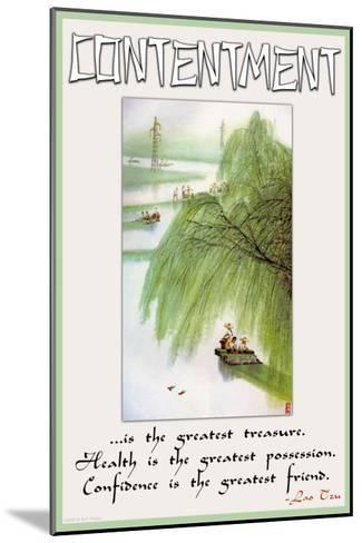 Contentment--Mounted Art Print