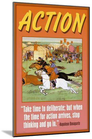Action--Mounted Art Print