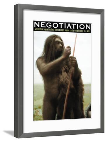 Negotiation--Framed Art Print