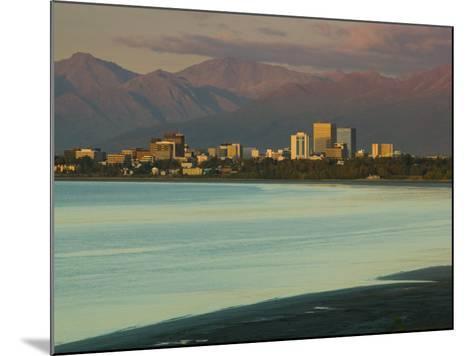 Skyline at Sunset from Point Woronzoff, Anchorage, Alaska-Walter Bibikow-Mounted Photographic Print