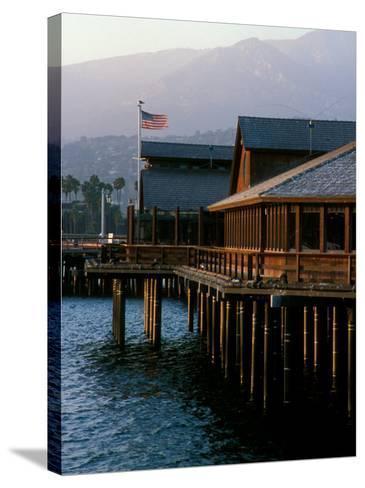 Waterfront Restaurant, Stern's Wharf, Santa Barbara, California-Savanah Stewart-Stretched Canvas Print