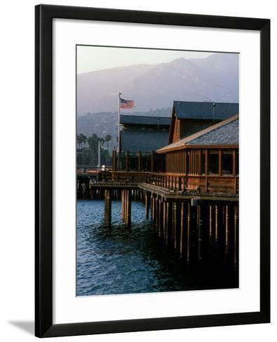 Waterfront Restaurant, Stern's Wharf, Santa Barbara, California-Savanah Stewart-Framed Art Print