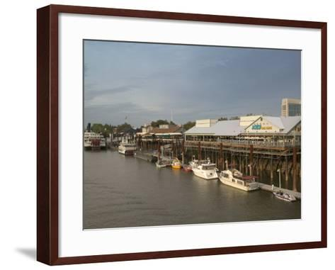 Old Sacramento Riverfront, Sacramento, California-Walter Bibikow-Framed Art Print