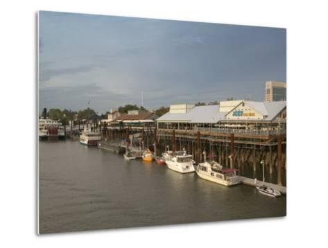 Old Sacramento Riverfront, Sacramento, California-Walter Bibikow-Metal Print