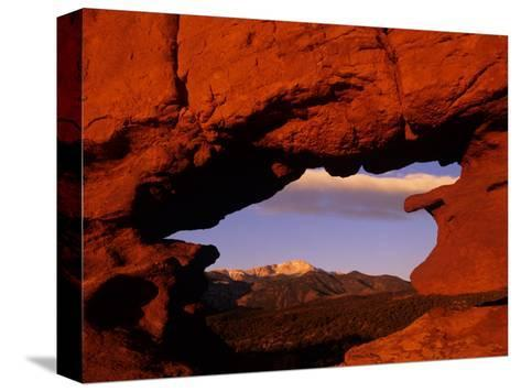 Legendary Pike's Peak, Garden of the Gods, Colorado Springs, Colorado-Jerry Ginsberg-Stretched Canvas Print