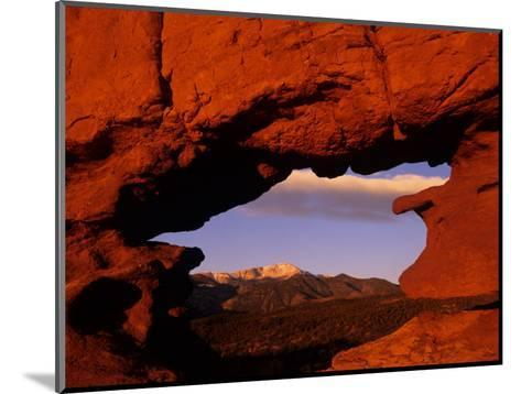 Legendary Pike's Peak, Garden of the Gods, Colorado Springs, Colorado-Jerry Ginsberg-Mounted Photographic Print