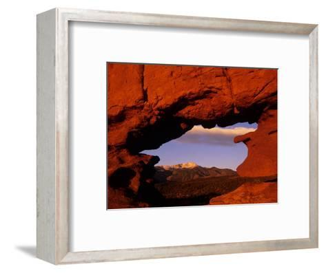 Legendary Pike's Peak, Garden of the Gods, Colorado Springs, Colorado-Jerry Ginsberg-Framed Art Print