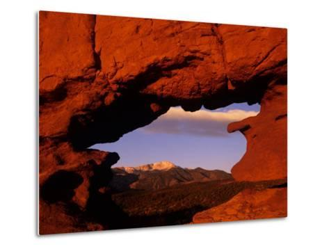 Legendary Pike's Peak, Garden of the Gods, Colorado Springs, Colorado-Jerry Ginsberg-Metal Print