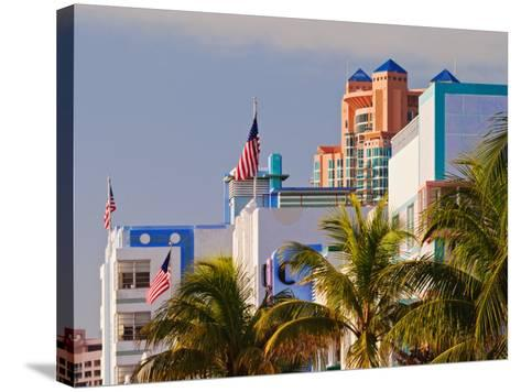 Art Deco District of South Beach, Miami Beach, Florida-Adam Jones-Stretched Canvas Print
