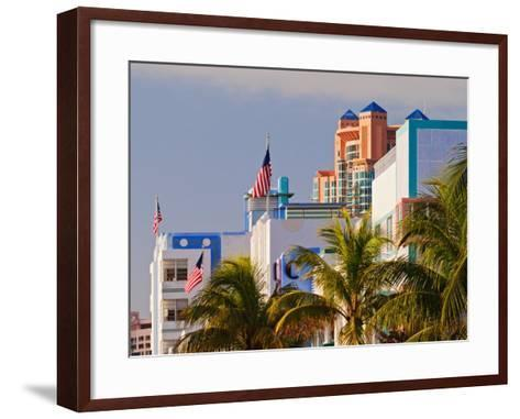 Art Deco District of South Beach, Miami Beach, Florida-Adam Jones-Framed Art Print