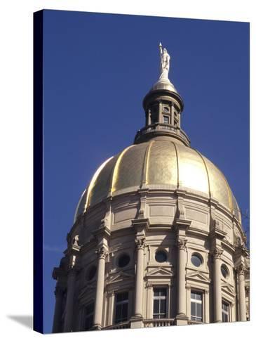 Gold Dome of the Capital Building, Savannah, Georgia-Bill Bachmann-Stretched Canvas Print