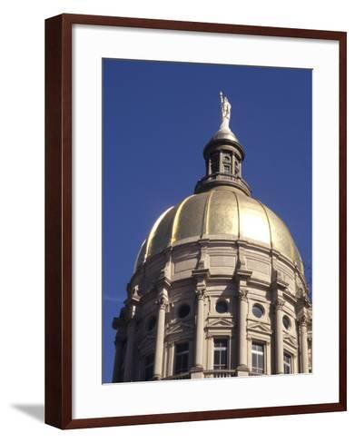 Gold Dome of the Capital Building, Savannah, Georgia-Bill Bachmann-Framed Art Print