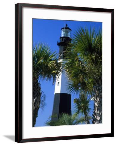 Tybee Island Lighthouse, Savannah, Georgia-Julie Eggers-Framed Art Print