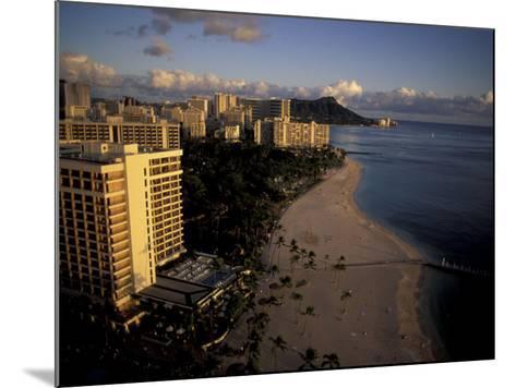 Honolulu Beach and Diamond Head, Oahu Hawaii-Randa Bishop-Mounted Photographic Print