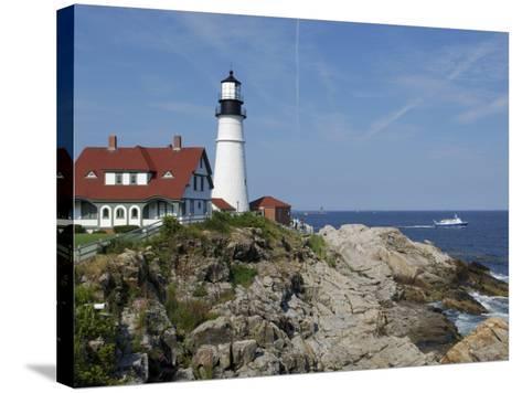 Portland Head Light, Cape Elizabeth, Maine-Keith & Rebecca Snell-Stretched Canvas Print