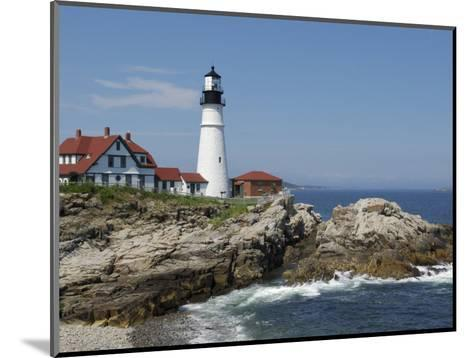 Portland Head Light, Cape Elizabeth, Maine-Keith & Rebecca Snell-Mounted Photographic Print
