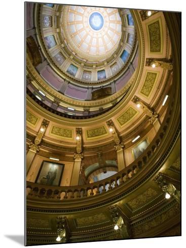 Interior of the Dome, State Capitol, Lansing, Michigan-Walter Bibikow-Mounted Photographic Print