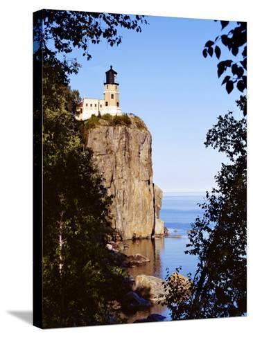 Split Rock Lighthouse, Two Harbors, Lake Superior, Minnesota-Peter Hawkins-Stretched Canvas Print