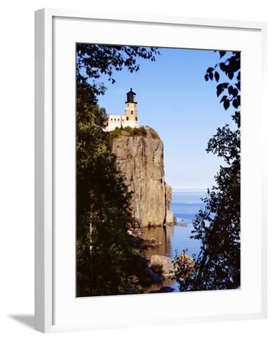 Split Rock Lighthouse, Two Harbors, Lake Superior, Minnesota-Peter Hawkins-Framed Art Print
