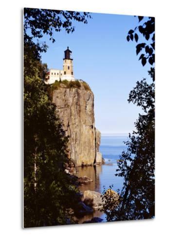 Split Rock Lighthouse, Two Harbors, Lake Superior, Minnesota-Peter Hawkins-Metal Print