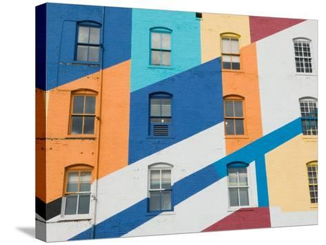 Colorful Exterior of the Valspar Paint Factory, Minneapolis, Minnesota-Walter Bibikow-Stretched Canvas Print