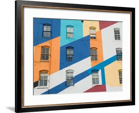 Colorful Exterior of the Valspar Paint Factory, Minneapolis, Minnesota-Walter Bibikow-Framed Art Print
