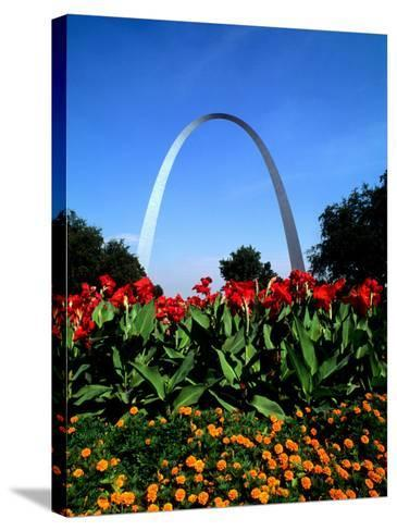 Famous St. Louis Arch, Archway Park, St. Louis, Missouri-Bill Bachmann-Stretched Canvas Print